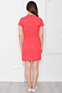 Платье короткое повседневное из хлопка Т0357