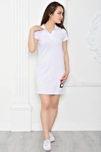 Платье короткое повседневное из хлопка Т0356