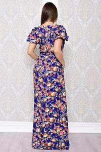 Платье длинное нарядное с принтом С8177