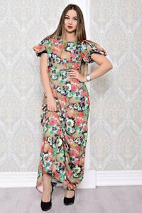 Платье длинное нарядное с принтом С8178