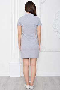 Платье короткое повседневное из хлопка Т0355