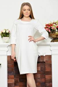 Платье короткое повседневное белое Р3313