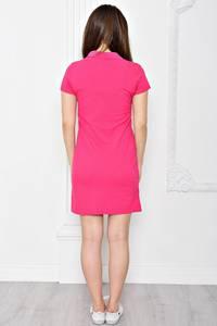 Платье короткое повседневное из хлопка Т0354