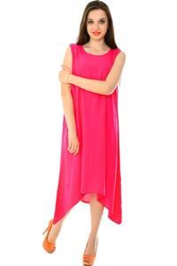 Платье длинное розовое однотонное Н7226