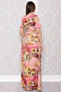 Платье длинное нарядное с принтом С8179