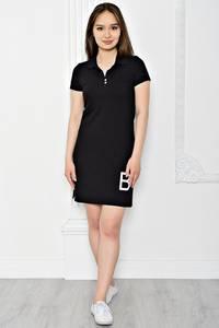 Платье короткое повседневное из хлопка Т0353