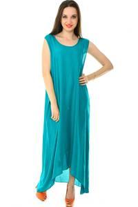 Платье длинное летнее однотонное Н7227