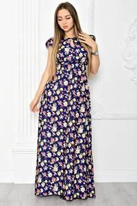 Платье длинное летнее с принтом Т1839