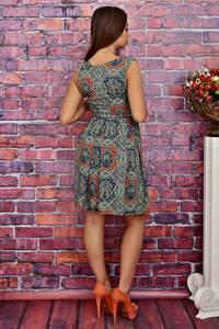 Платье короткое без рукавов летнее Т4271