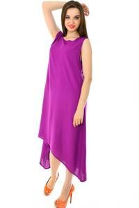 Платье длинное розовое однотонное Н7230