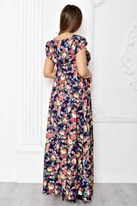 Платье длинное летнее с принтом Т1840