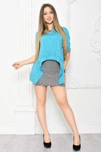 Платье Двойка короткое трикотажное современное Т2068