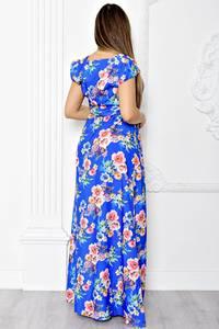 Платье длинное летнее с принтом Т1841