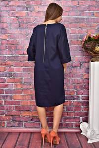 Платье короткое синее деловое У8001