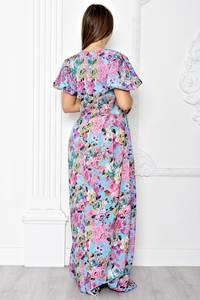 Платье длинное летнее с принтом Т1842
