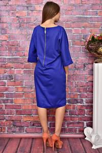 Платье короткое синее деловое У8002