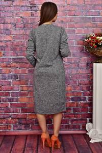 Платье длинное офисное однотонное Т4275