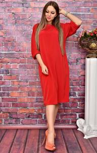 Платье короткое красное деловое У8003