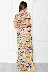 Платье длинное летнее с принтом Т1843