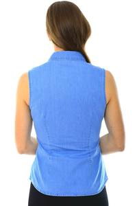 Рубашка однотонная синяя Н4046