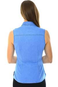 Рубашка однотонная синяя Н4047