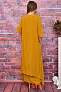 Платье длинное однотонное У8005