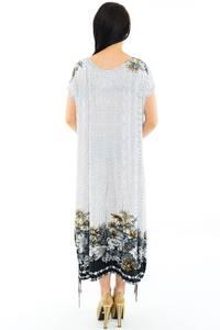 Платье длинное белое нарядное М3639