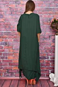 Платье длинное зеленое У8006