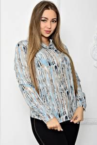 Рубашка с длинным рукавом с принтом Т1907