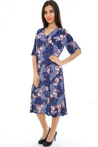 Платье длинное трикотажное нарядное Н2357