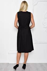Платье длинное вечернее черное Т1224