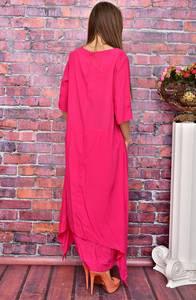 Платье длинное однотонное У8008