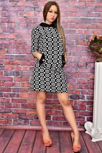 Платье короткое нарядное классическое У8040