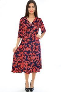 Платье длинное нарядное трикотажное Н2358