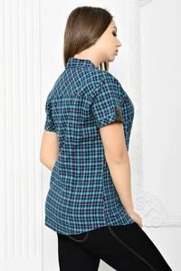 Рубашка в клетку с коротким рукавом Т2076