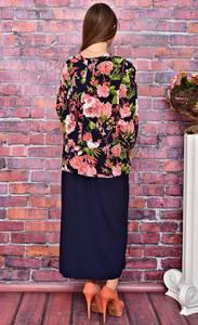 Платье длинное нарядное с принтом У8036