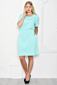 Платье короткое вечернее однотонное Т1231