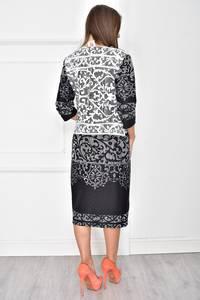 Платье короткое трикотажное с принтом У7709