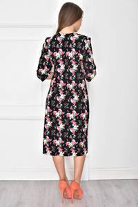 Платье короткое трикотажное с принтом У7710