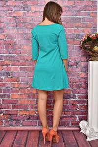Платье короткое повседневное с принтом У8031