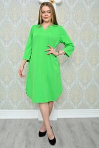 Платье длинное зимнее зеленое Р1295