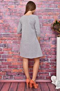 Платье короткое повседневное с принтом У8030