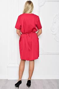 Платье короткое красное вечернее Т1235