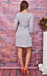 Платье короткое повседневное с принтом У8029