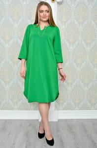 Платье длинное зимнее зеленое Р1296