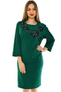 Платье короткое вечернее зеленое Н4414
