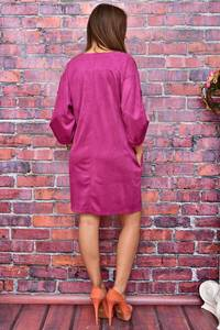 Платье-туника короткое однотонное У8025