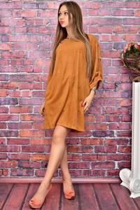 Платье-туника короткое однотонное У8026