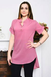 Блуза розовая с коротким рукавом Р4158