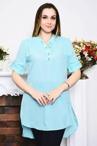 Блуза голубая с коротким рукавом Р4160